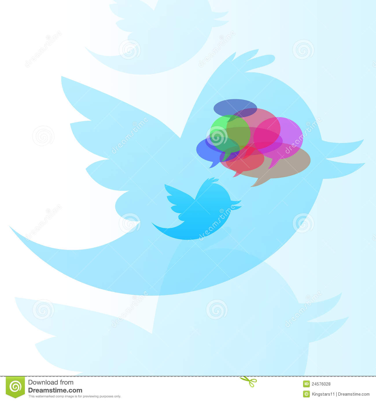 Twitter Bird with Bubble