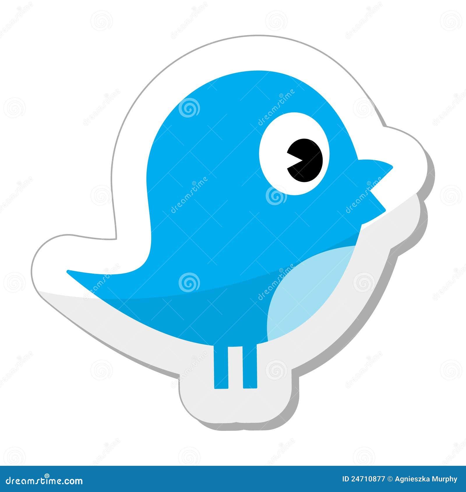 Twitter/icona sociale dell uccello di media