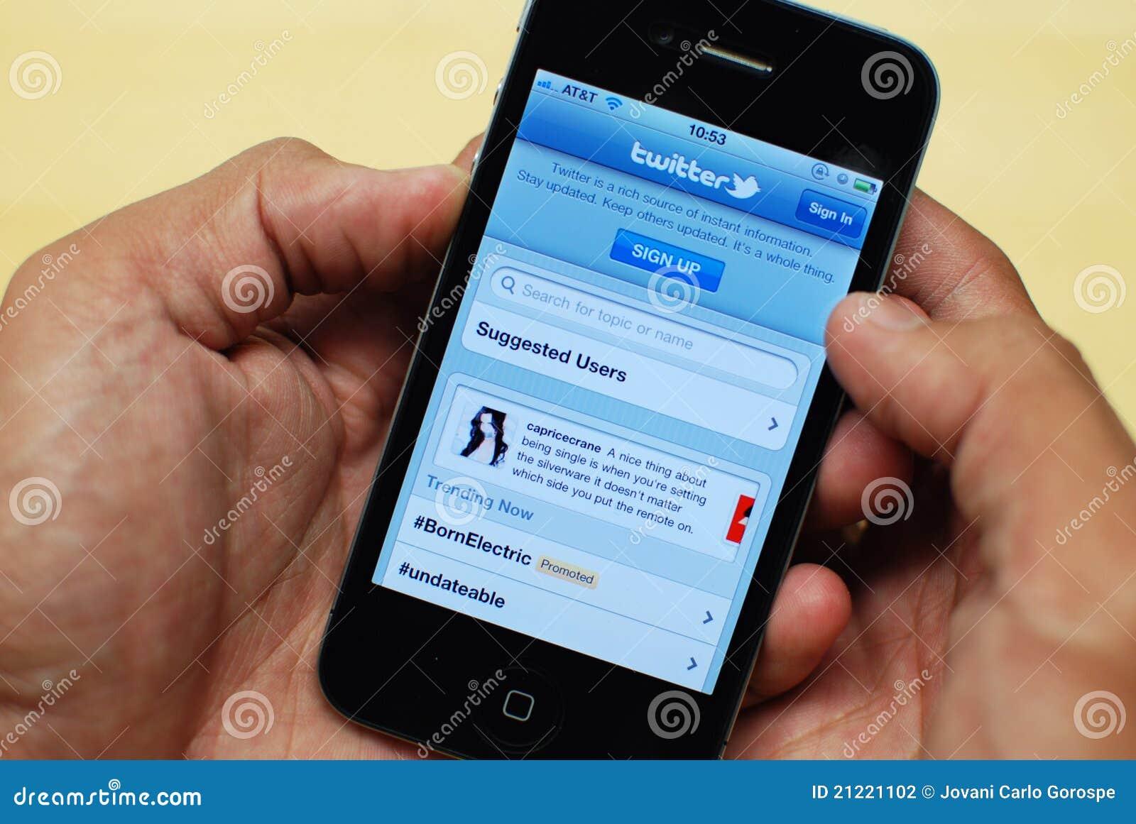 Twitter sul iPhone 4