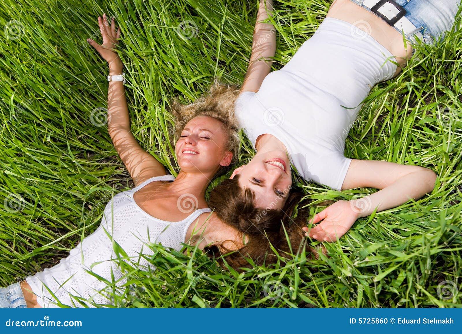Lesbians Sex On Grass 25