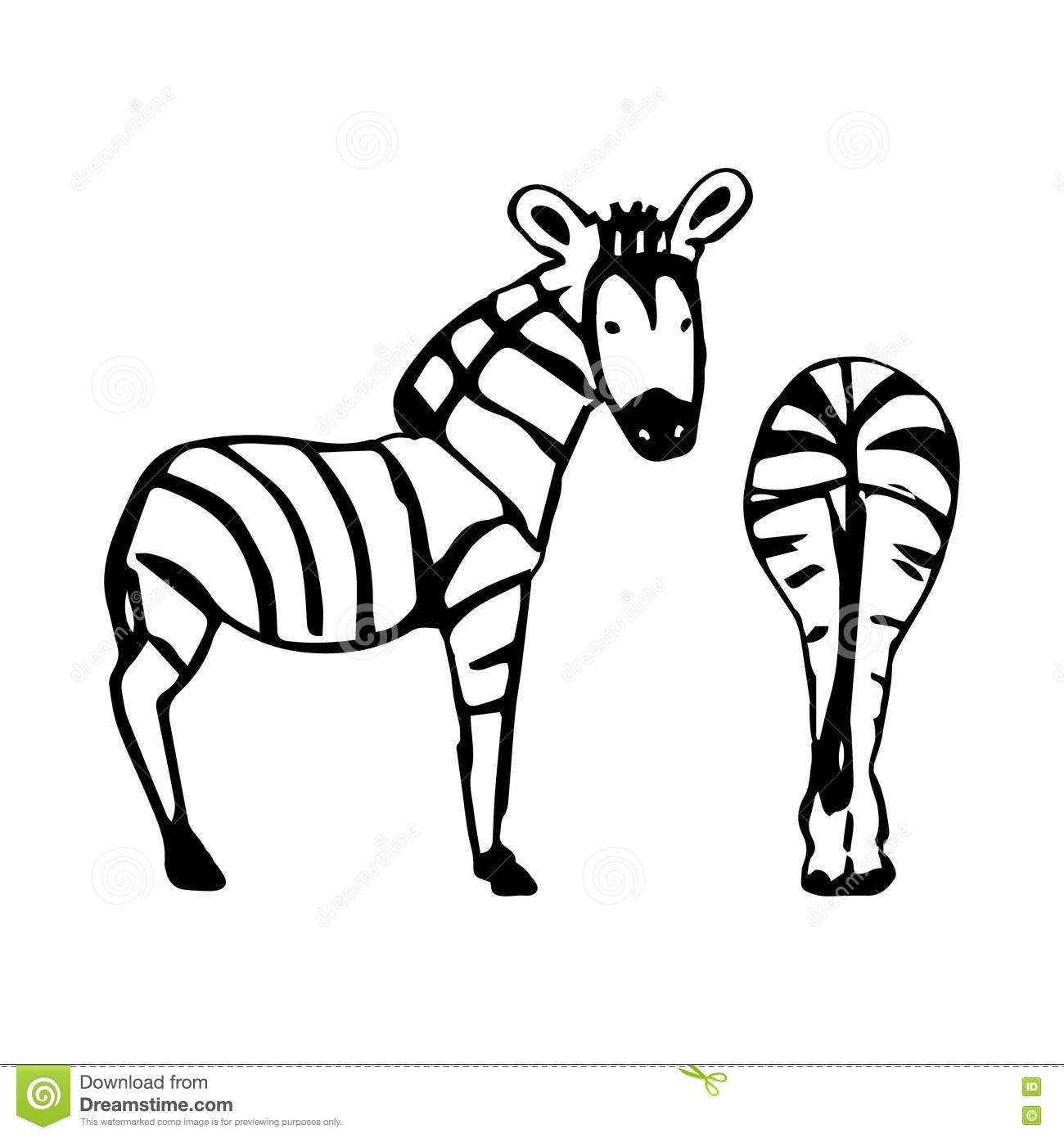Two Abstract Zebra Stock Vector Illustration Of