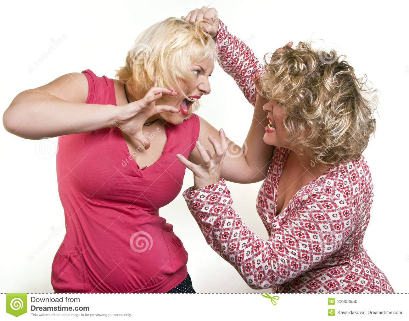 Two girl fighting the