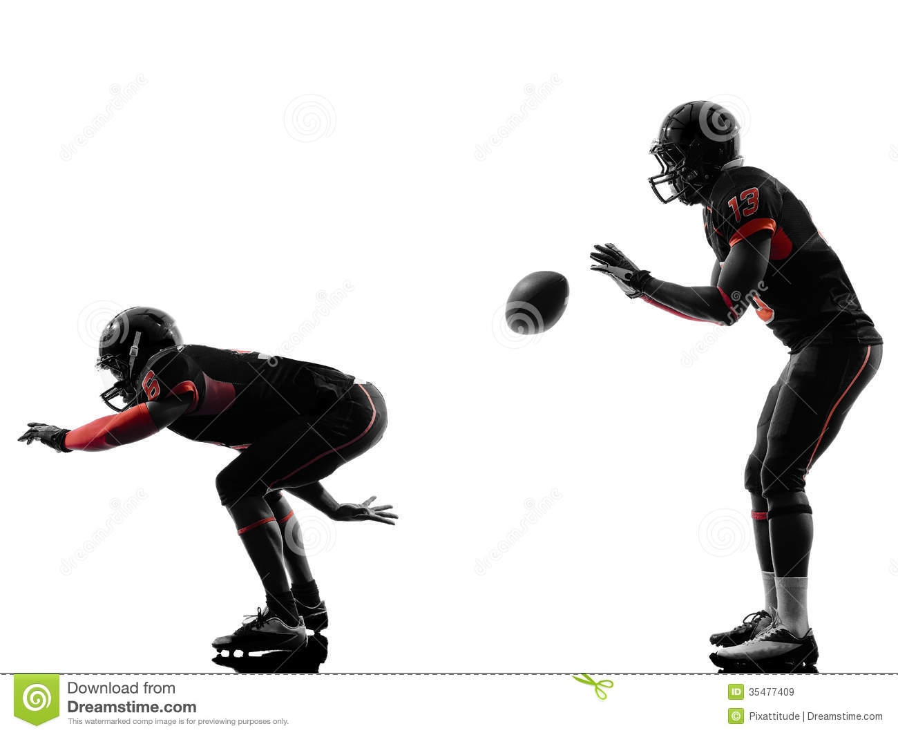 Nfl Football Players Wallpapers Clipart Panda Free Clipart: Two American Football Players On Scrimmage Silhouette