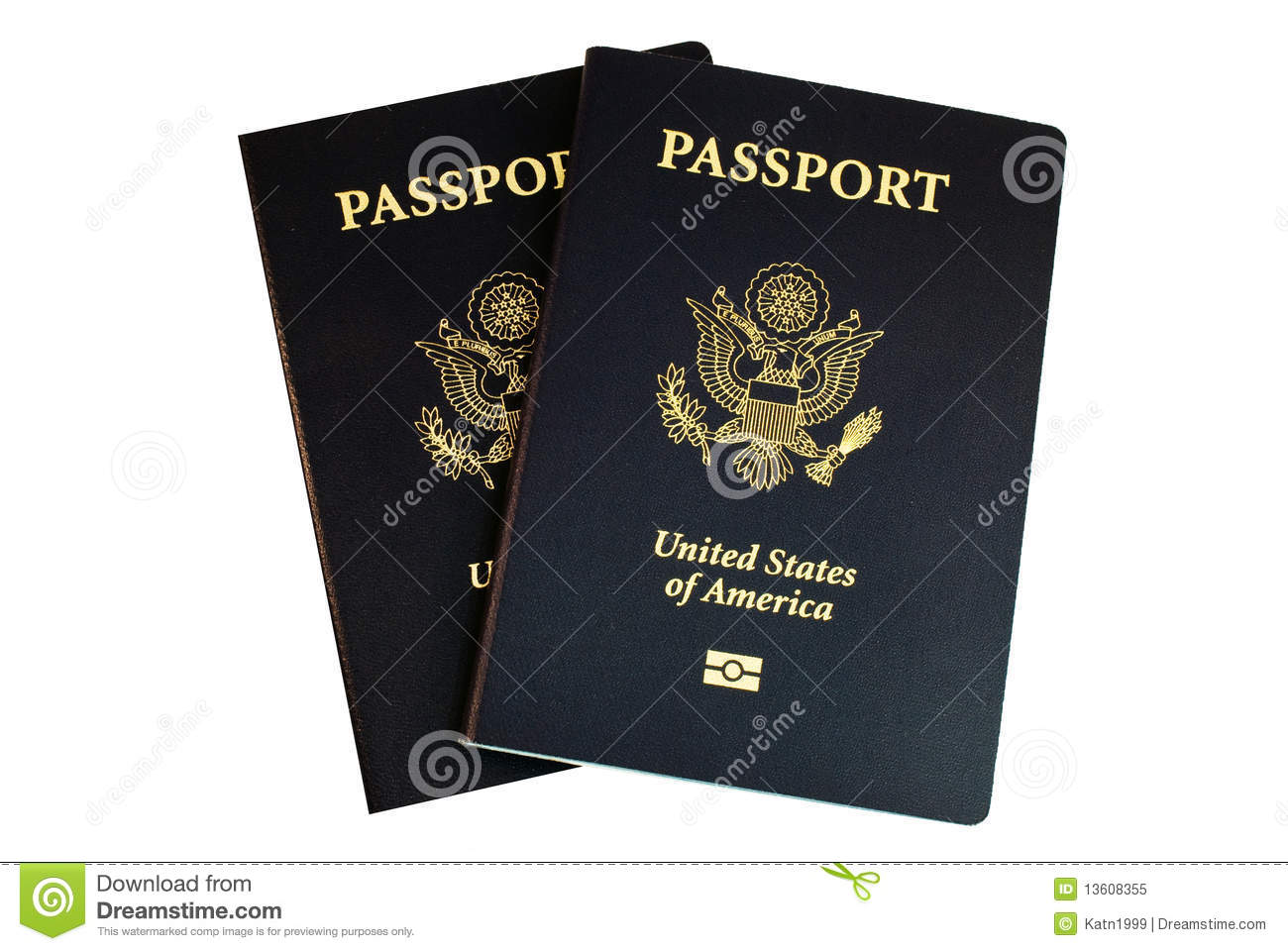 Two American Passports Royalty Free Stock Photo - Image ...