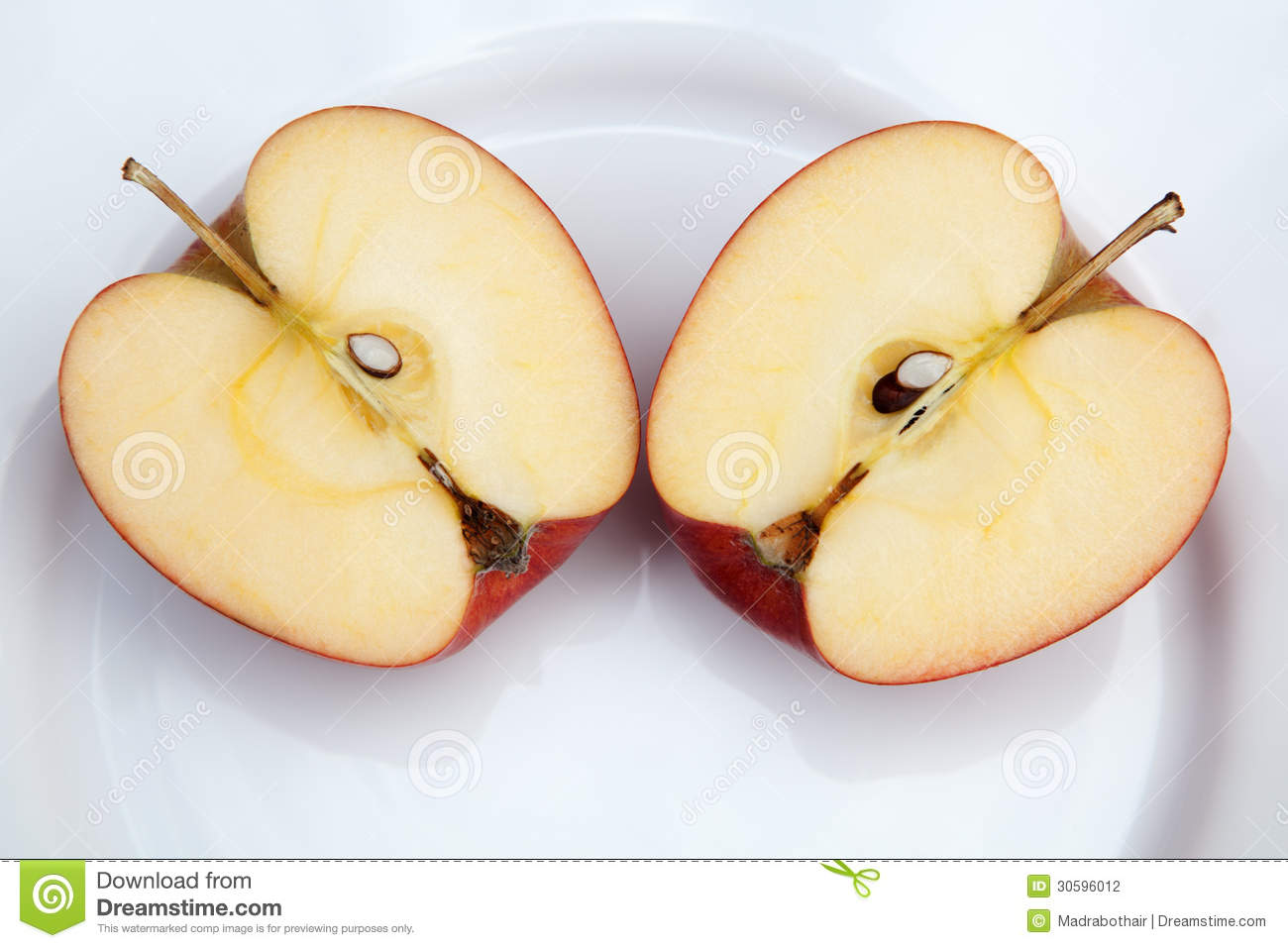 two apple halves stock photo image of half  plate  seeds clipart apple core apple core clipart black and white