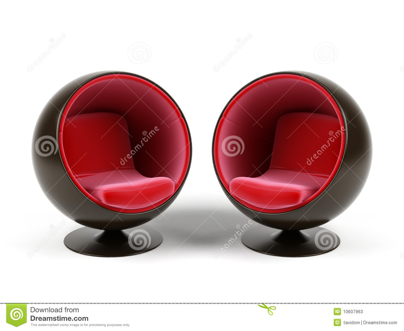 Two armchairs. stock illustration. Illustration of comfort ...