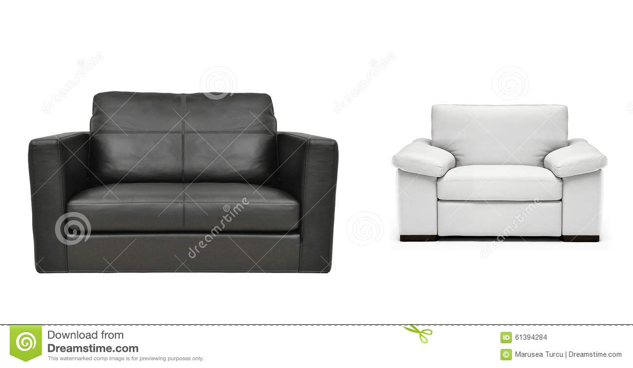 Two armchairs isolated stock photo. Image of space ...