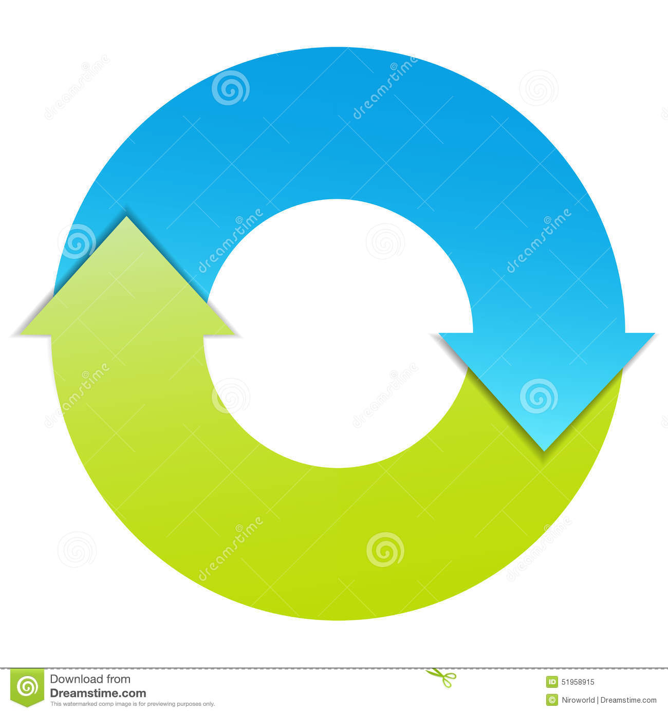 Process cycling arrow by arrow royalty free stock images image - Royalty Free Vector Two Arrows Business Cycle Stock Vector
