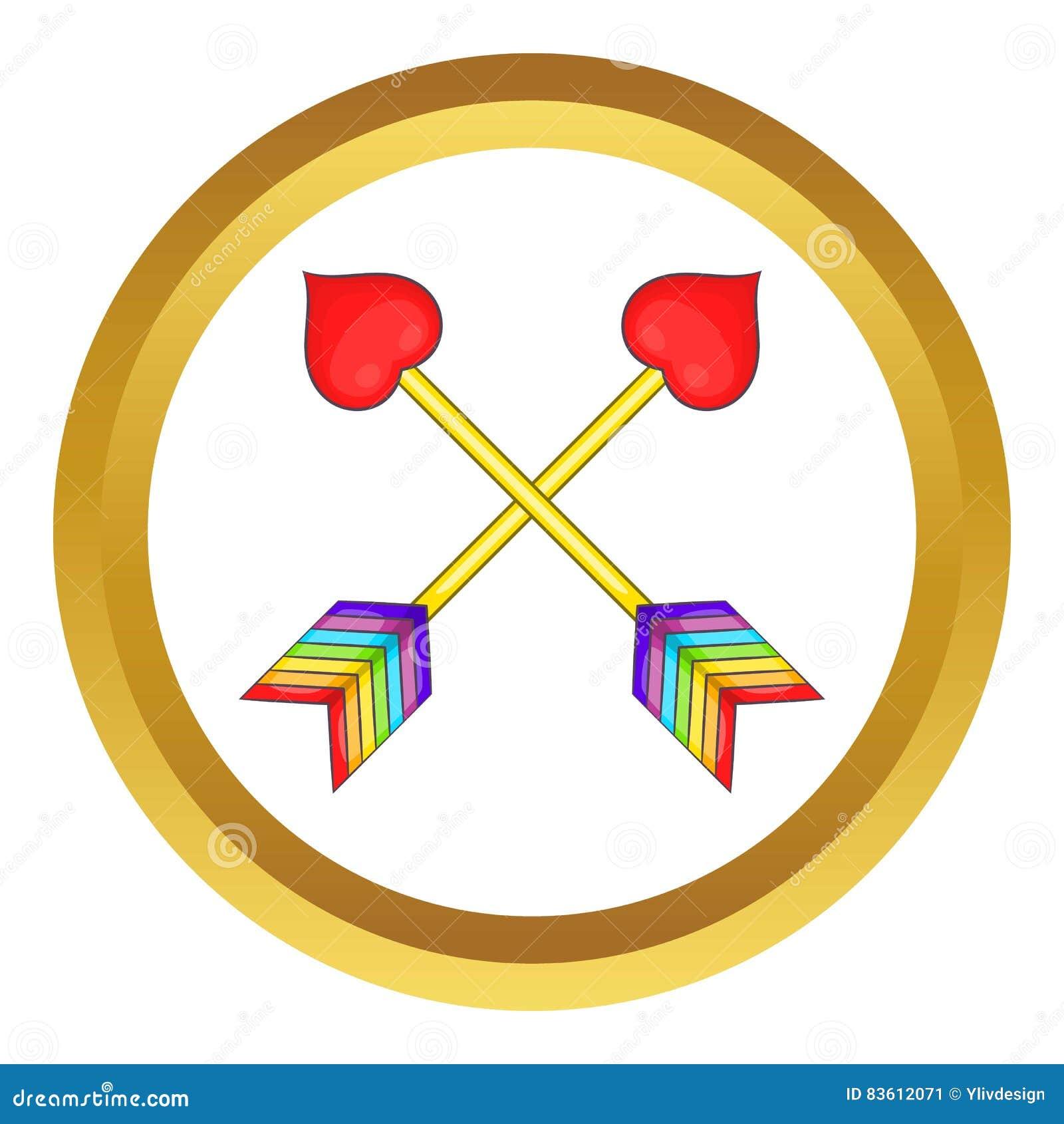 Two arrows LGBT vector icon