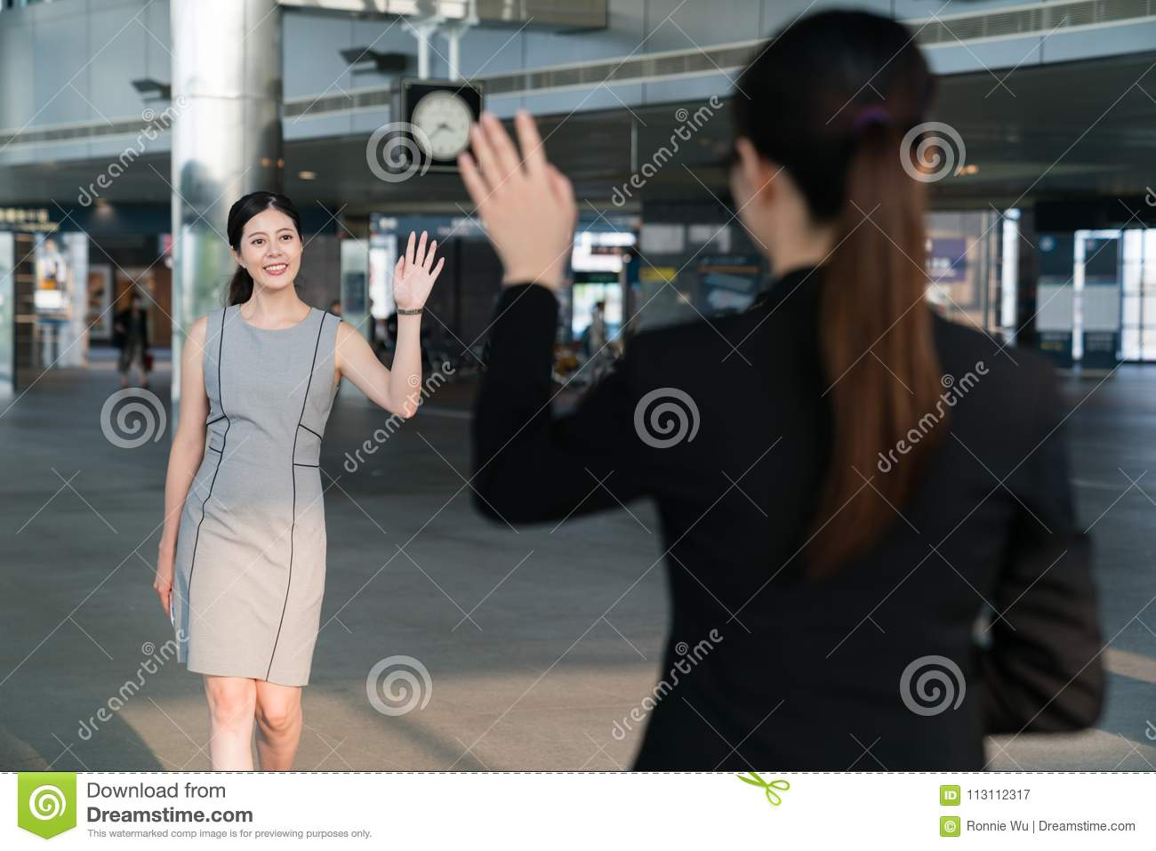 Businesswomen greeting each other stock image image of korean download businesswomen greeting each other stock image image of korean japanese 113112317 m4hsunfo