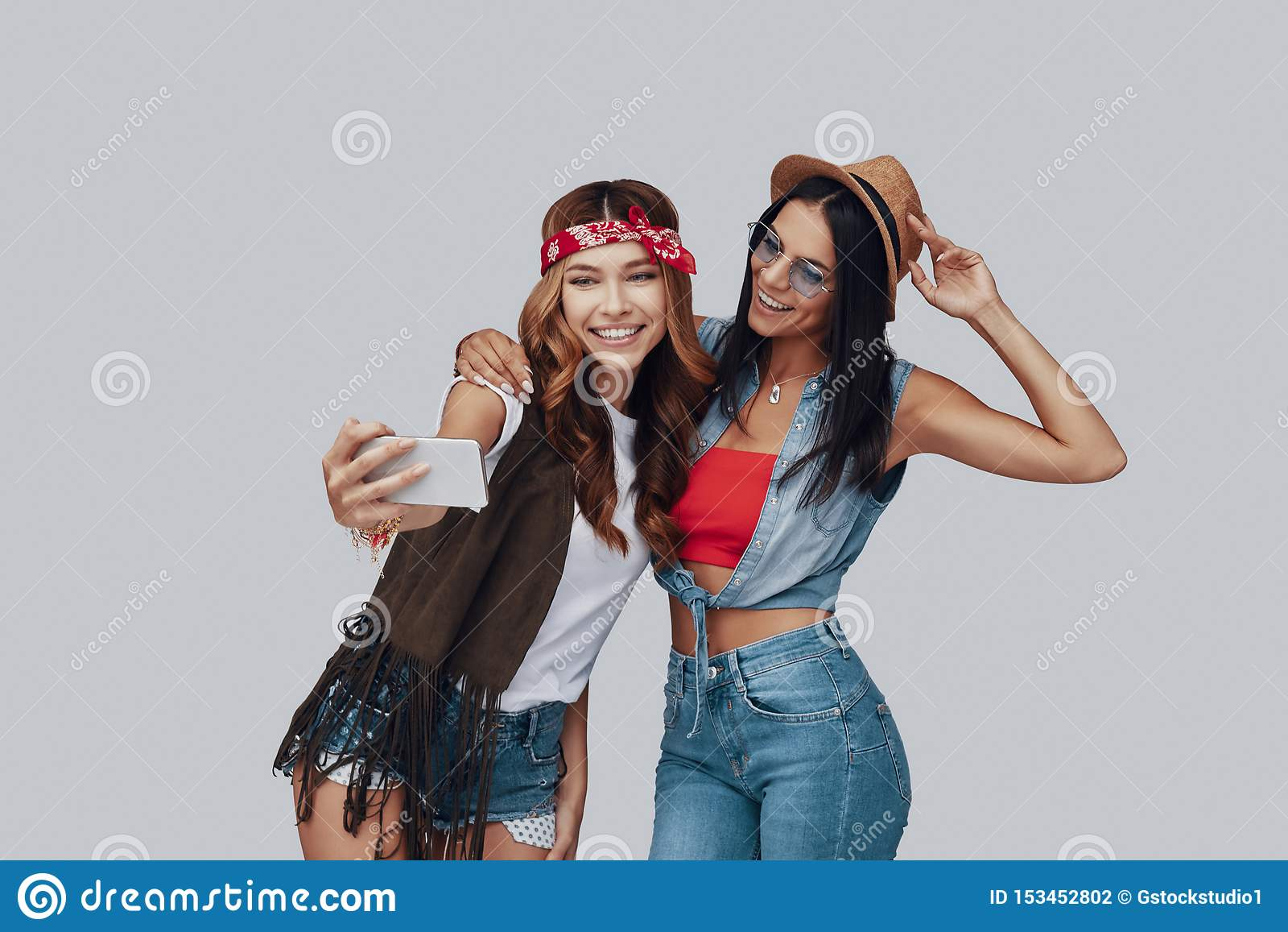 Two attractive stylish young women