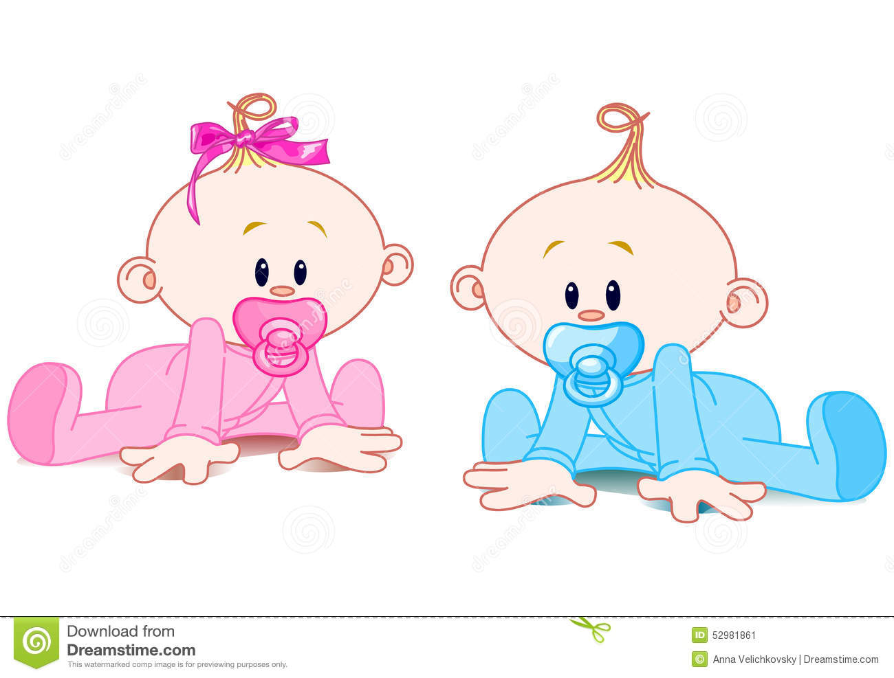 Two Babies stock vector. Illustration of icons, graphics ...