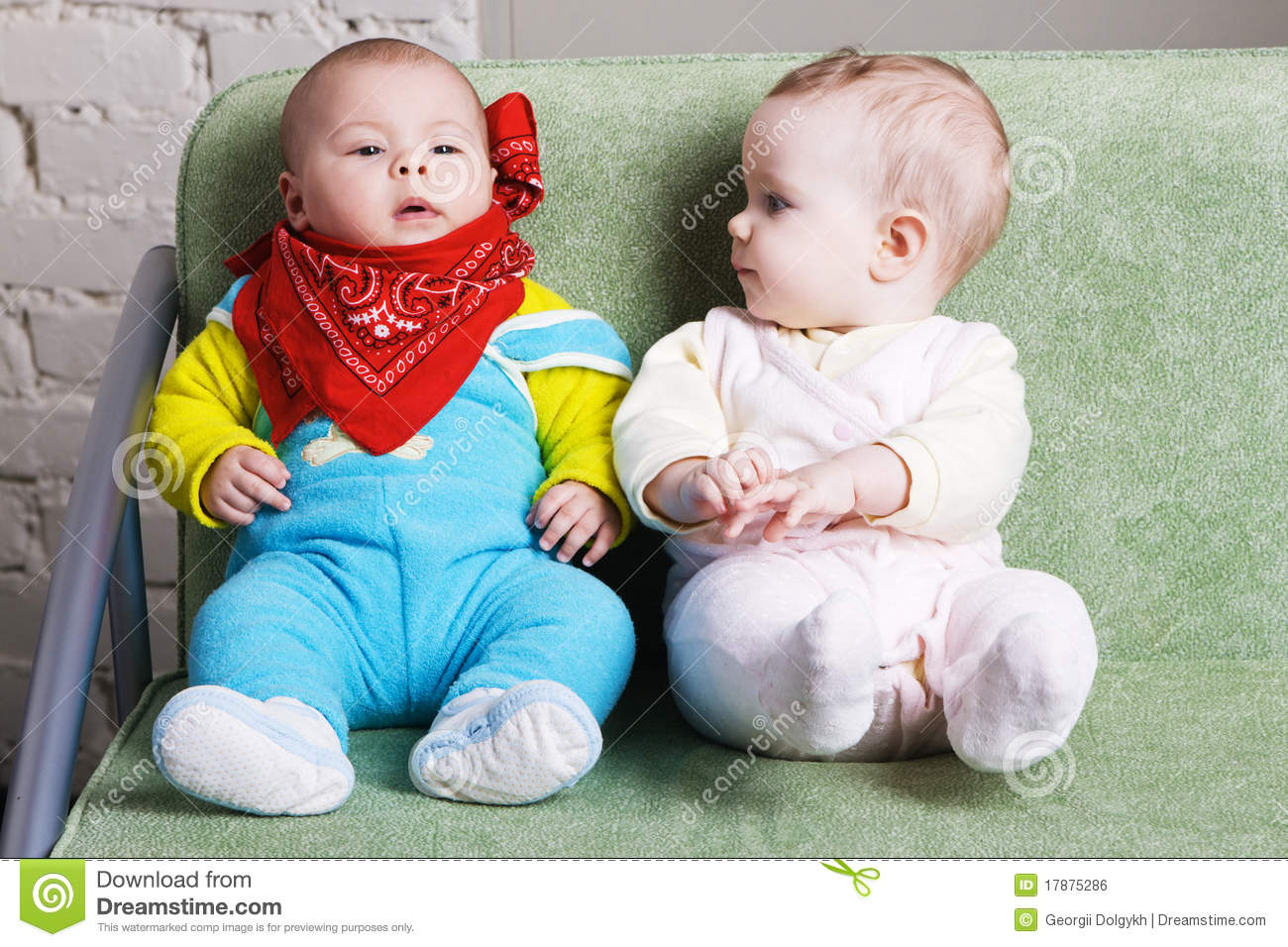 two cute babies sitting together stock images - 410 photos