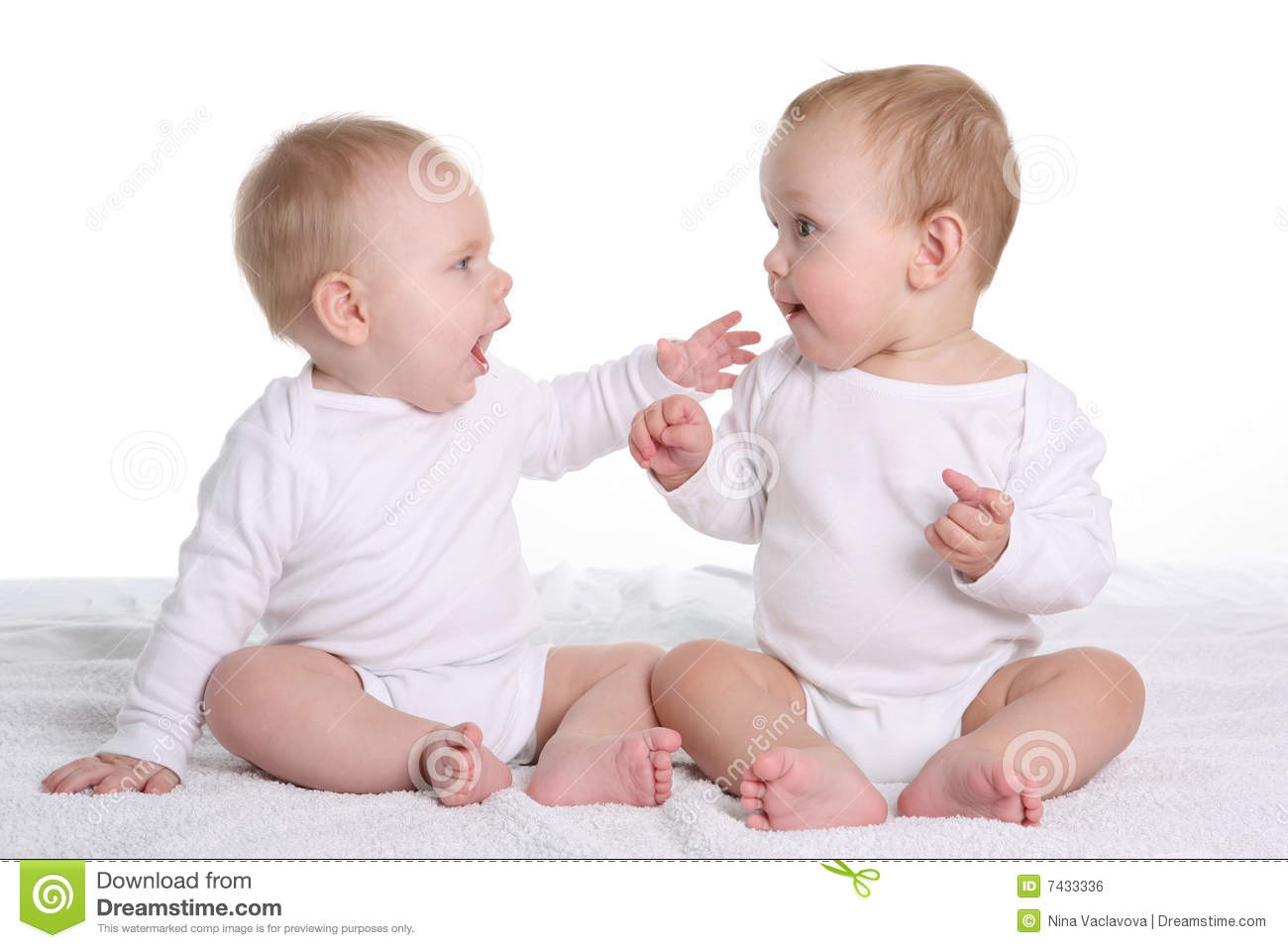 funny baby girl fighting with boy