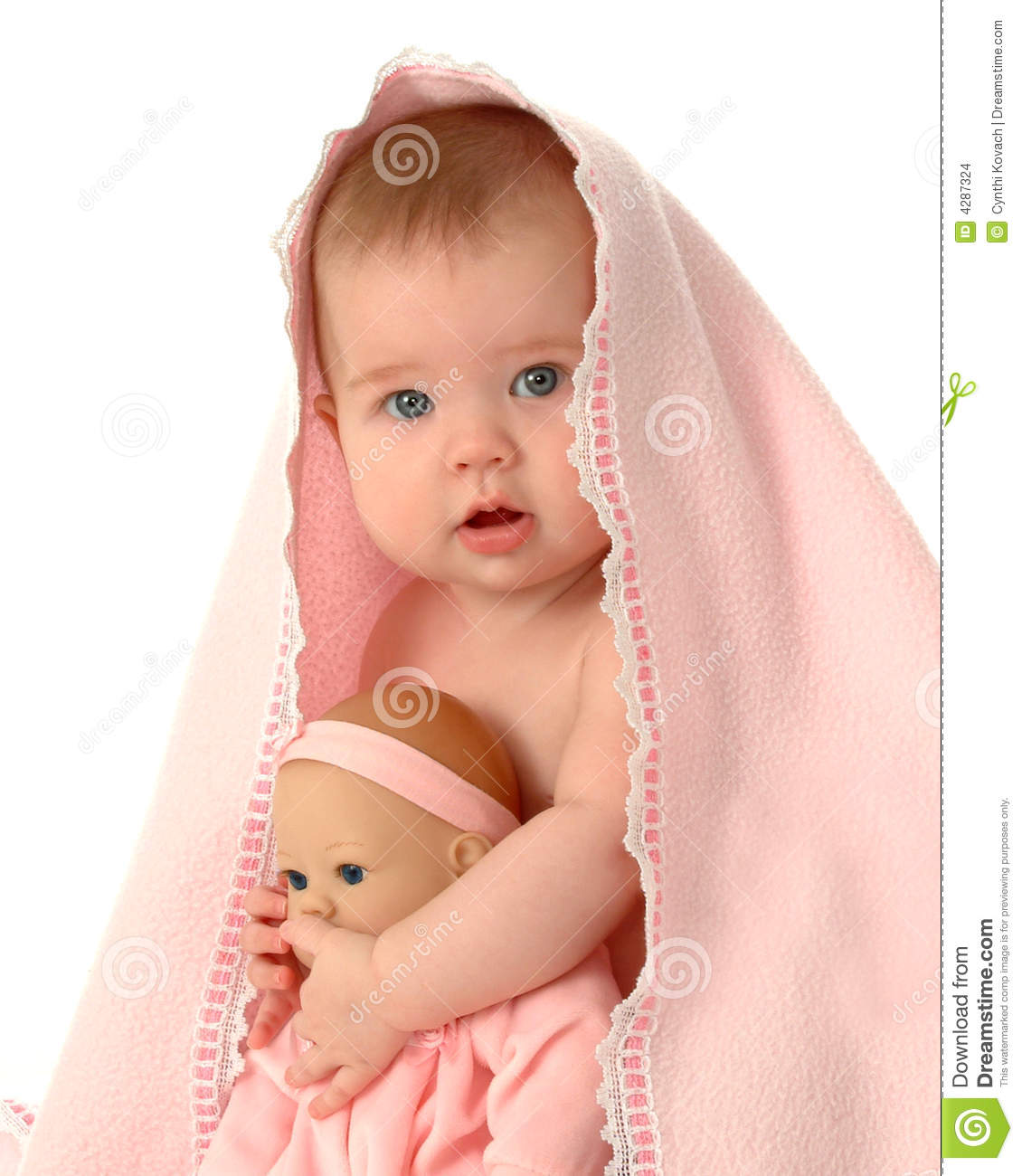 two baby dolls stock photo image of eyes child expression 4287324