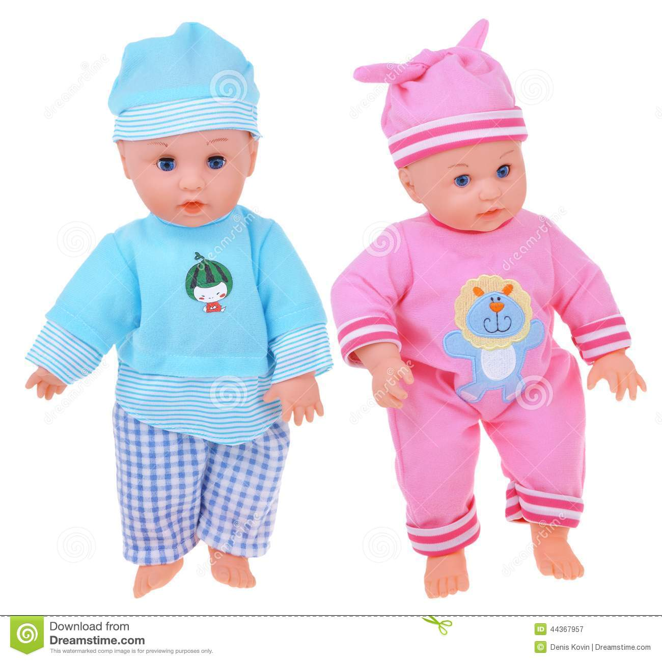 Two Baby Dolls Stock Photo - Image: 44367957