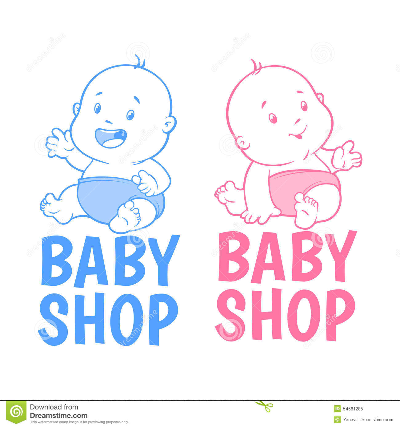 Two baby shop logo stock vector illustration of childhood for Beb logo