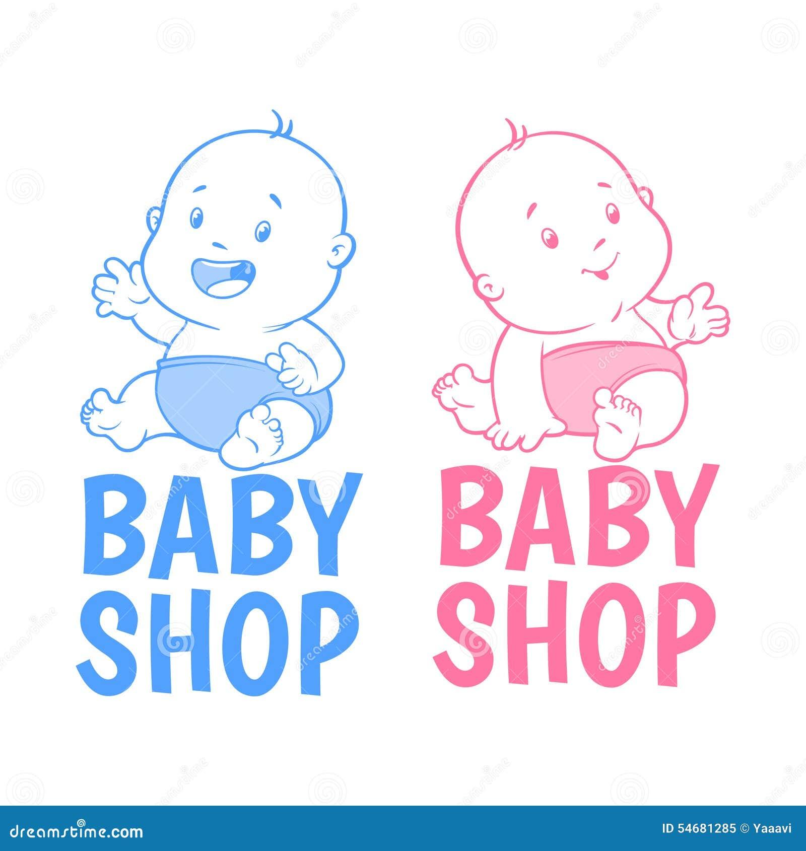 two baby shop logo stock vector image 54681285 baby girl clip art images diaper baby girl clip art images looking fabulous