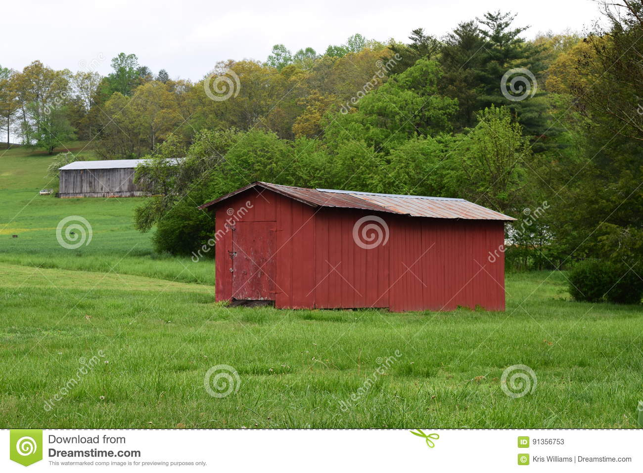 Two Barns in two fields