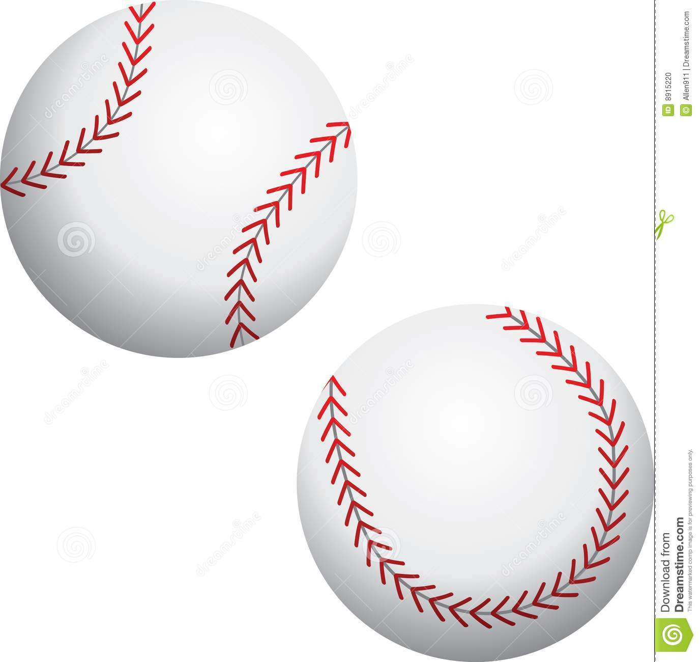 ... baseballs isolated over white background. Additional format available