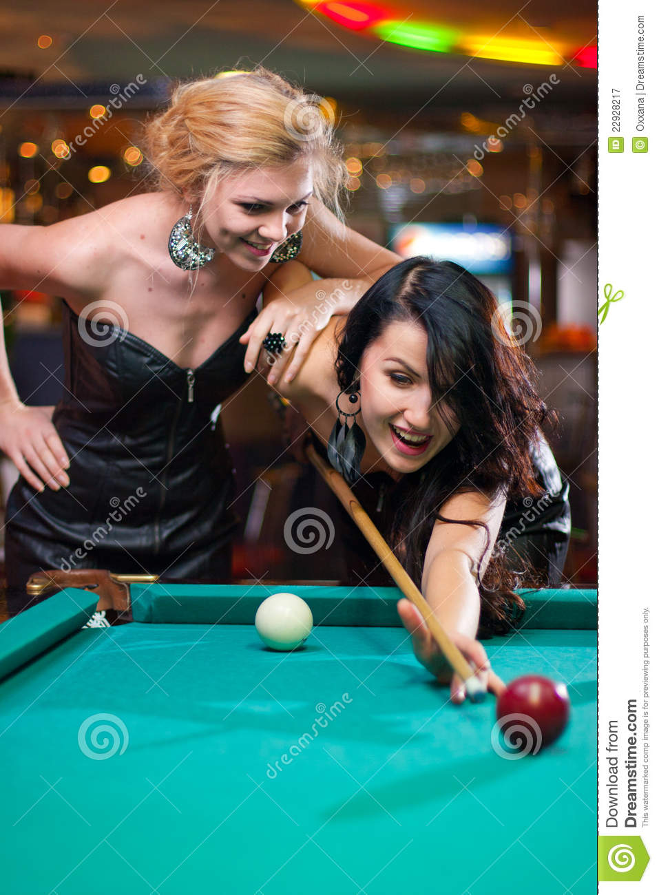2 pretty ladies play a game of strip darts 1