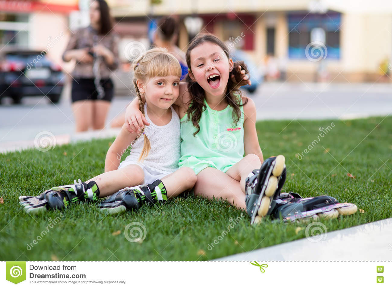 Roller skates for grass