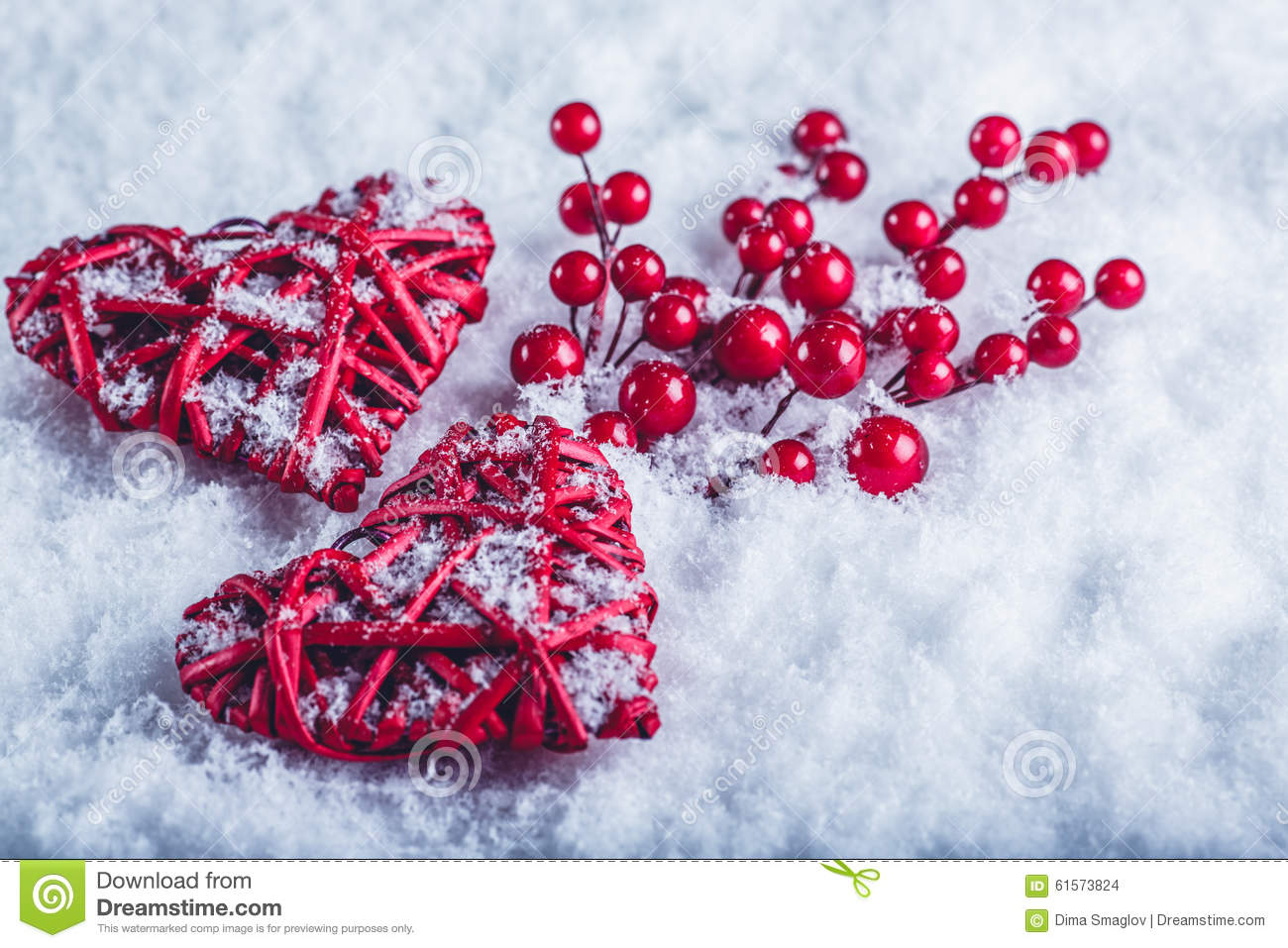 Beautiful christmas snow pictures the snow on christmas day in - Two Beautiful Vintage Red Hearts With Mistletoe Berries On A White Snow Background Christmas