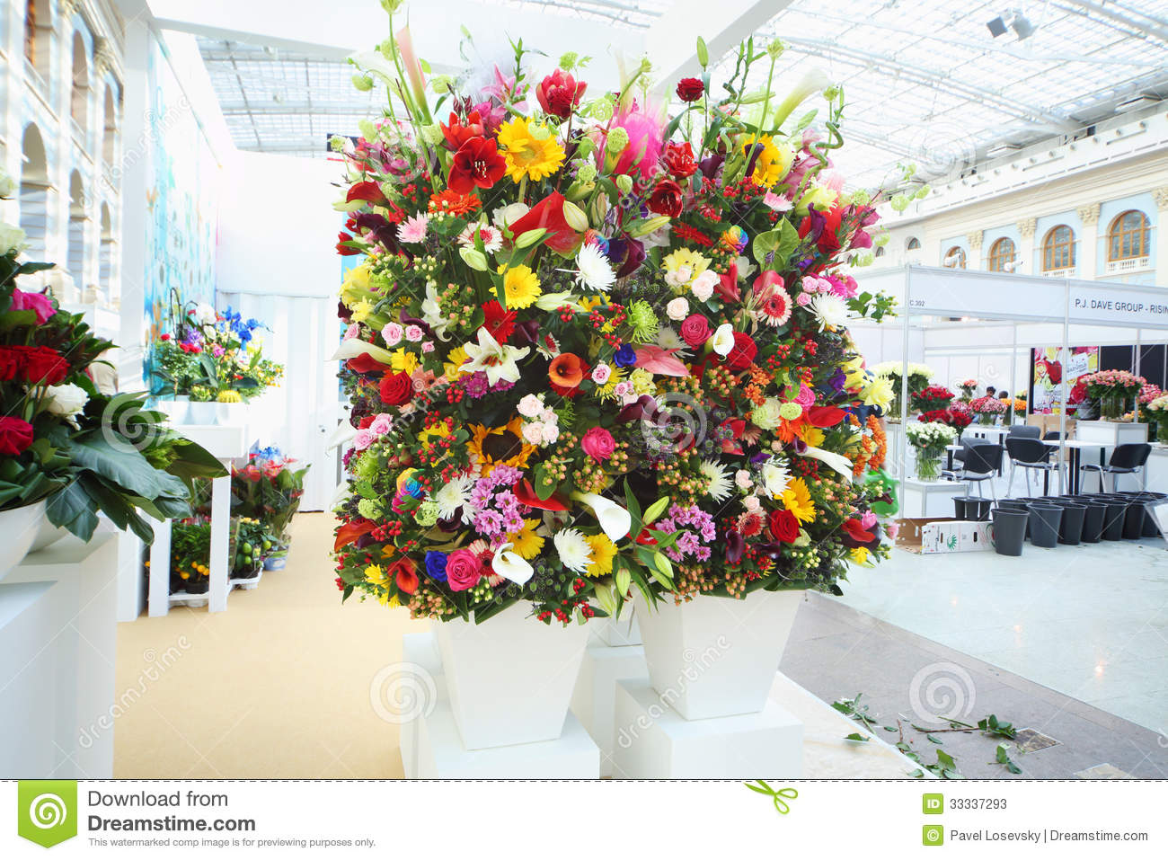 Two Big Bouquets At XIX International Flower Show Editorial Stock ...