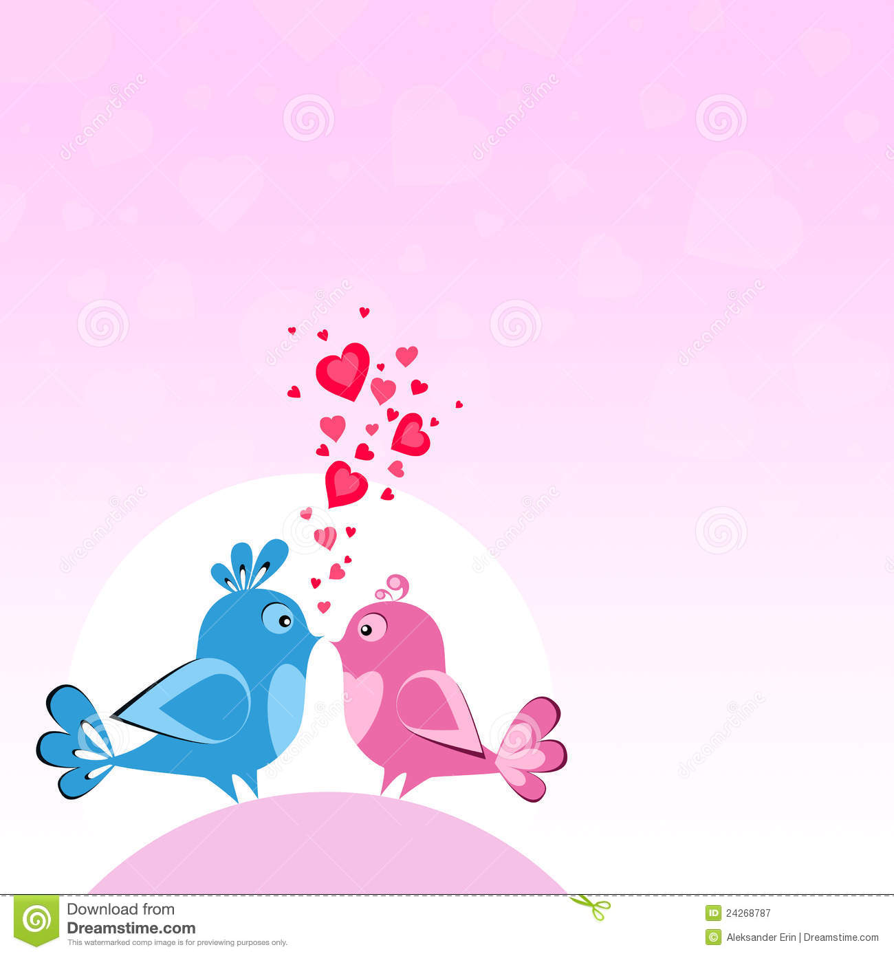 Two Birds In Love Royalty Free Stock Photography Image