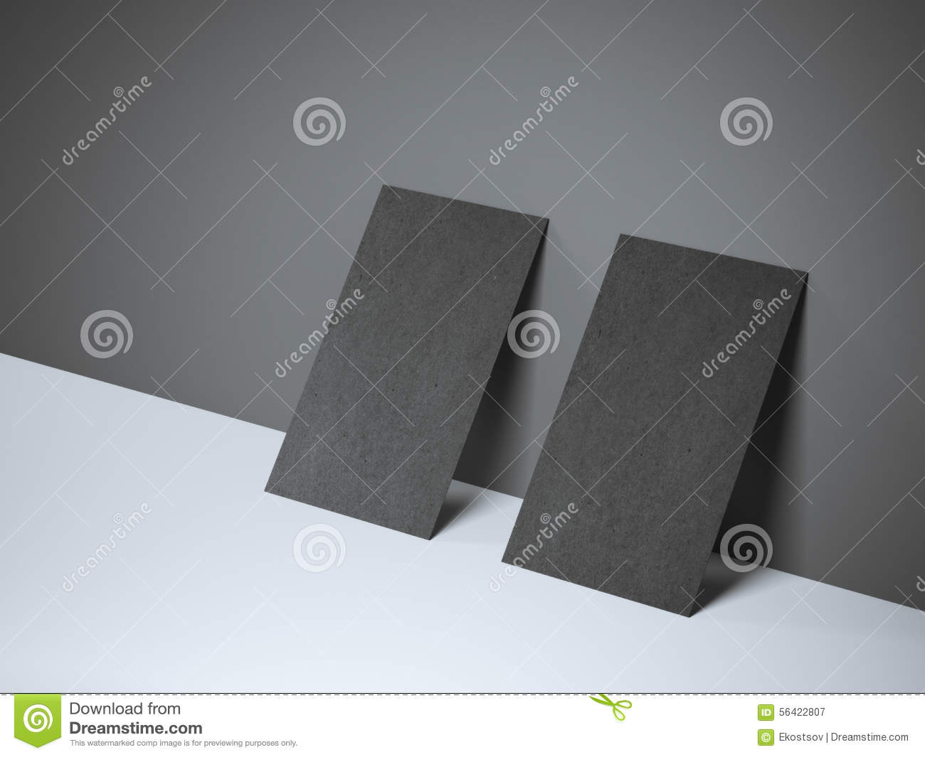 Two Black Blank Business Cards Stock Image - Image of cardboard ...