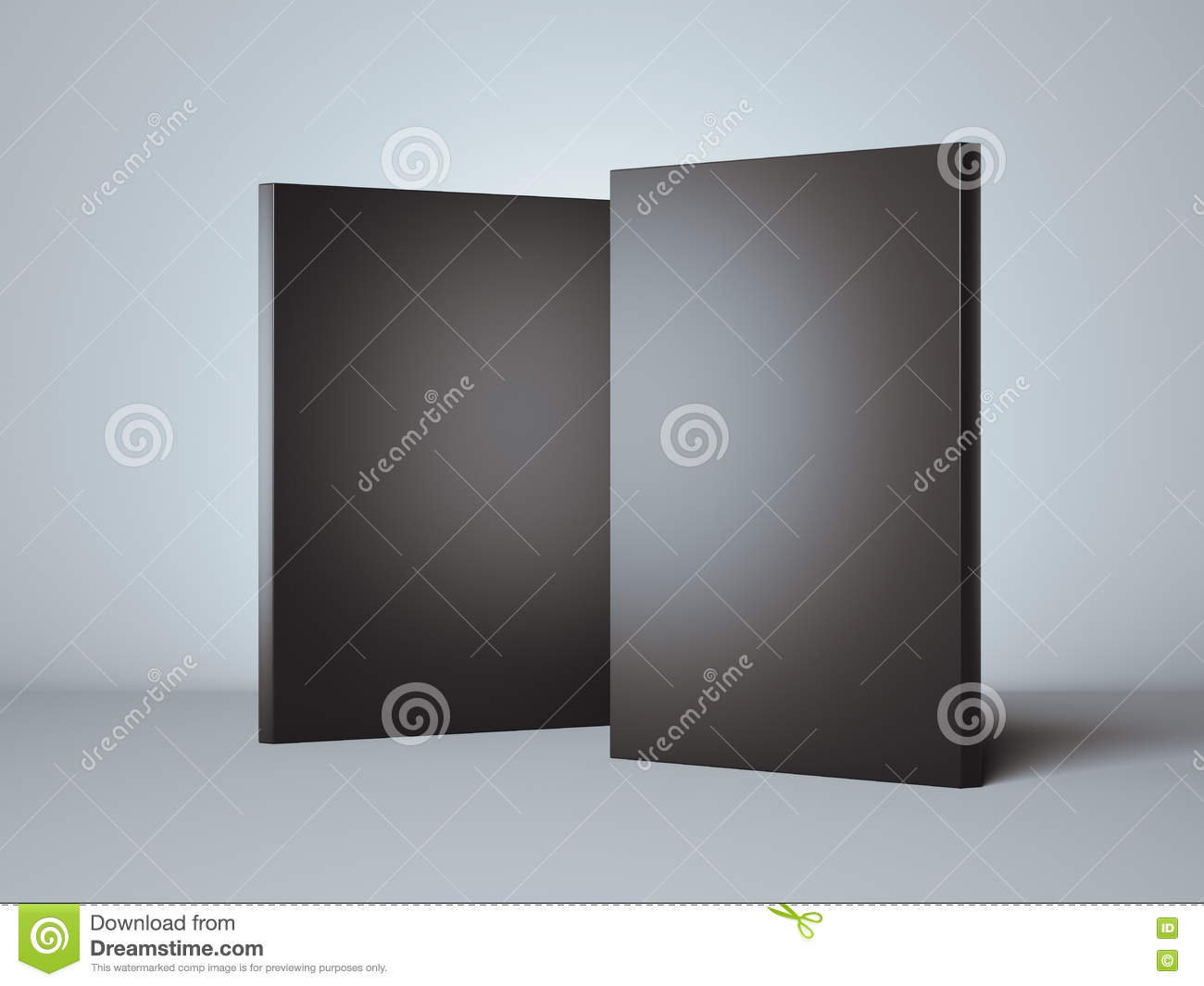 Two black boxes 3d rendering stock illustration image for Black box container studios