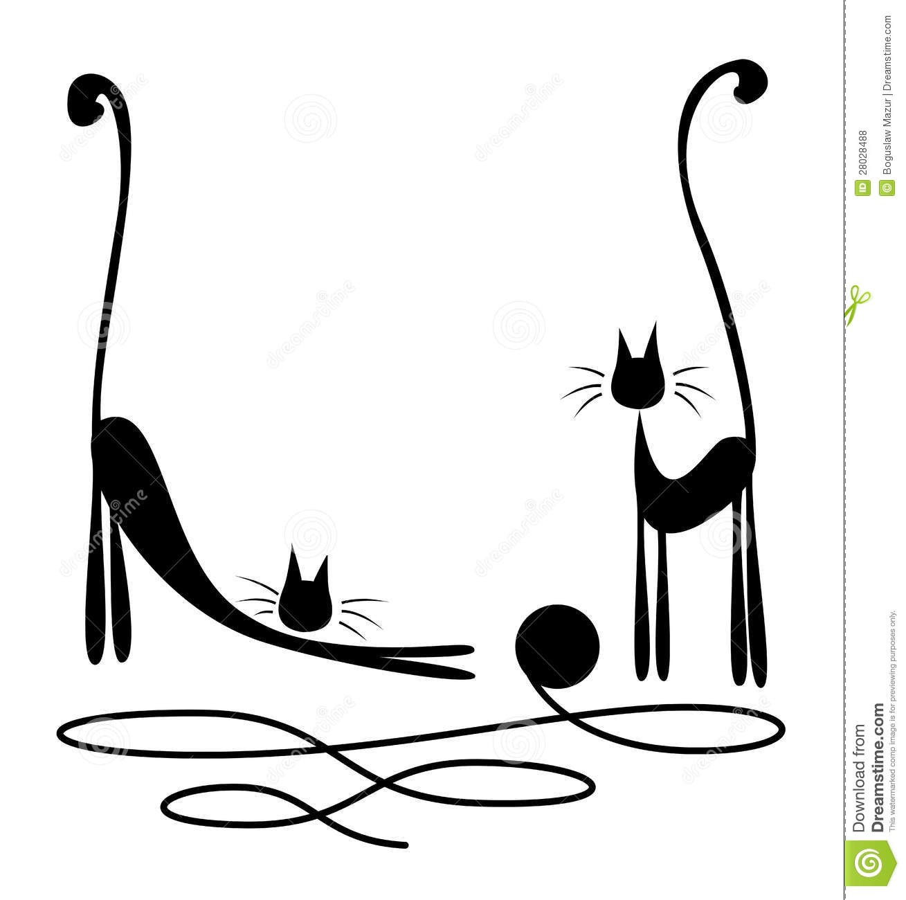 Two Black Cats Stock Vector Illustration Of Isolated 28028488