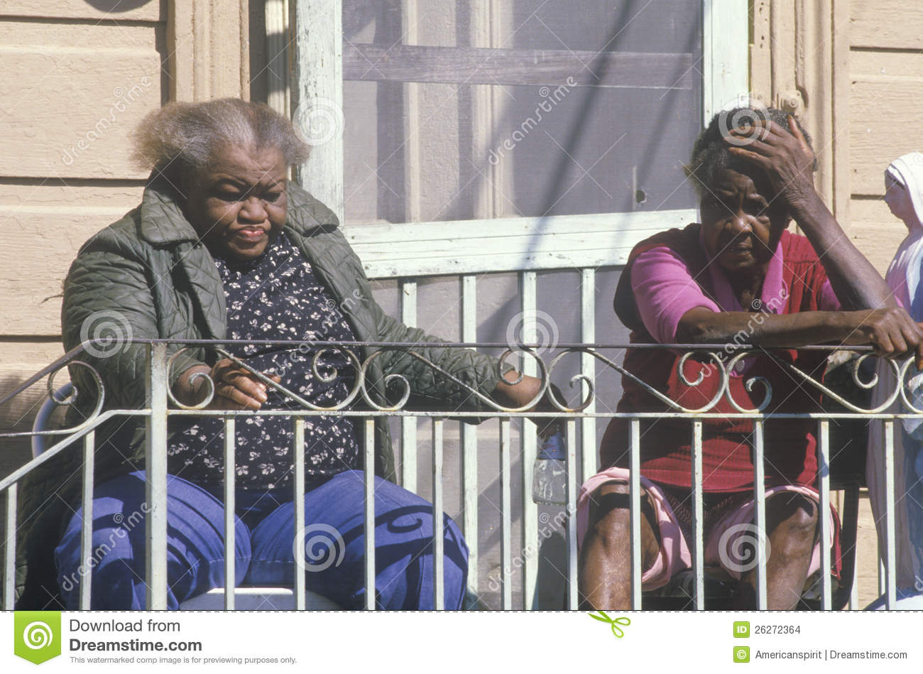 Two Black Women Living In Poverty Editorial Stock Image