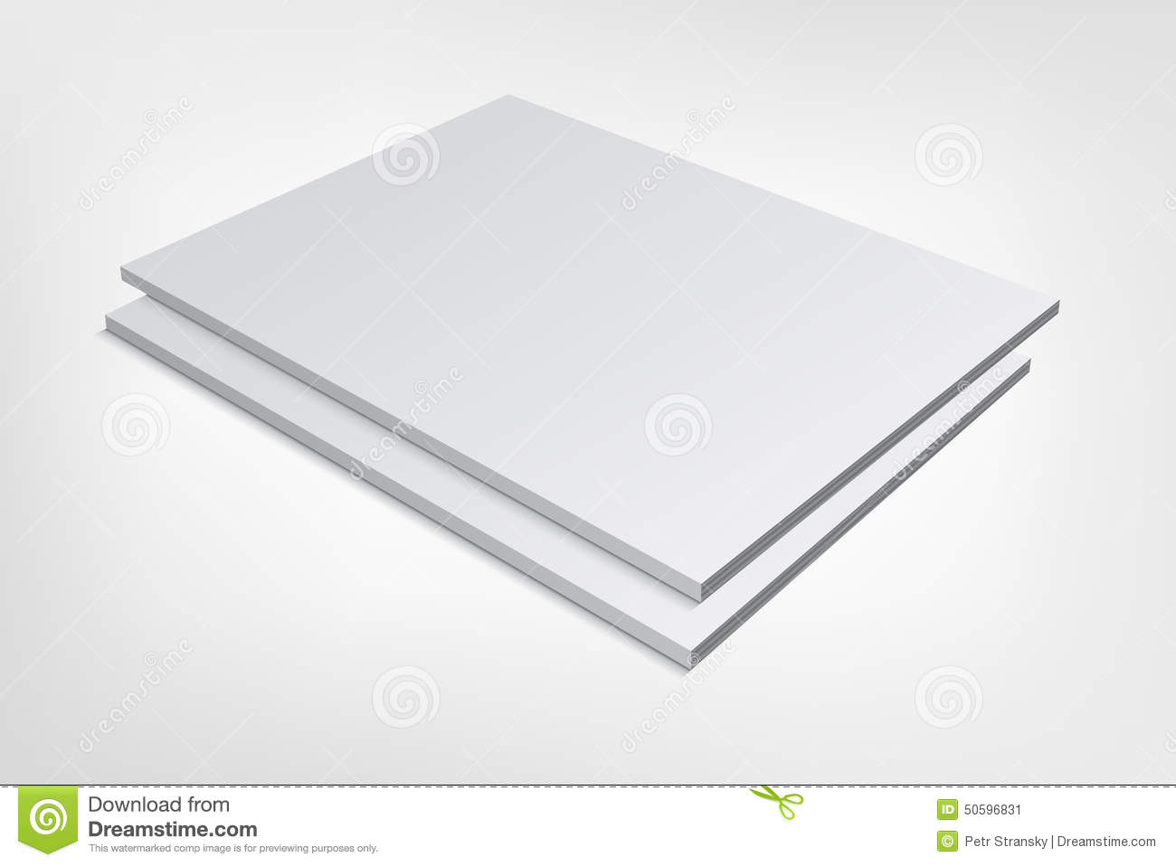Two Blank Magazine Covers On Gray Background Stock Vector