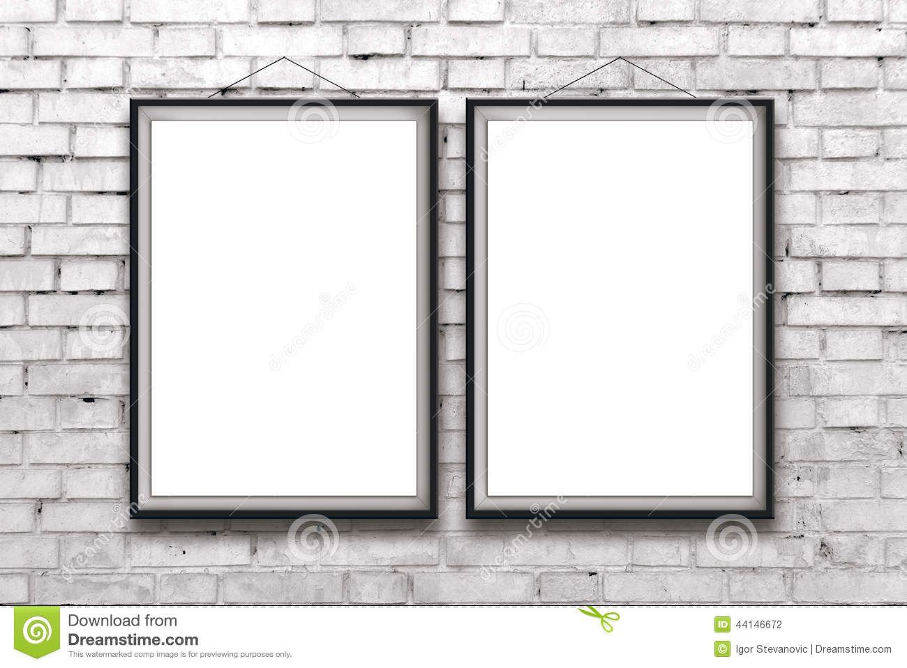 Greatest Two Blank Vertical Paintings Or Posters In Black Frame Stock Photo  GH19