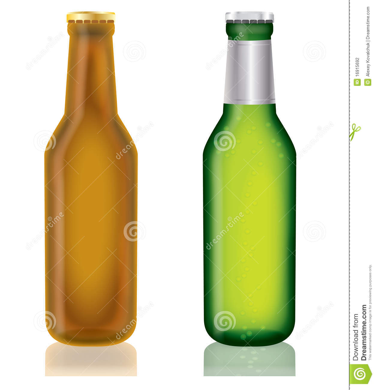 Two Bottles Of Beer,vector Stock Photography - Image: 16915692