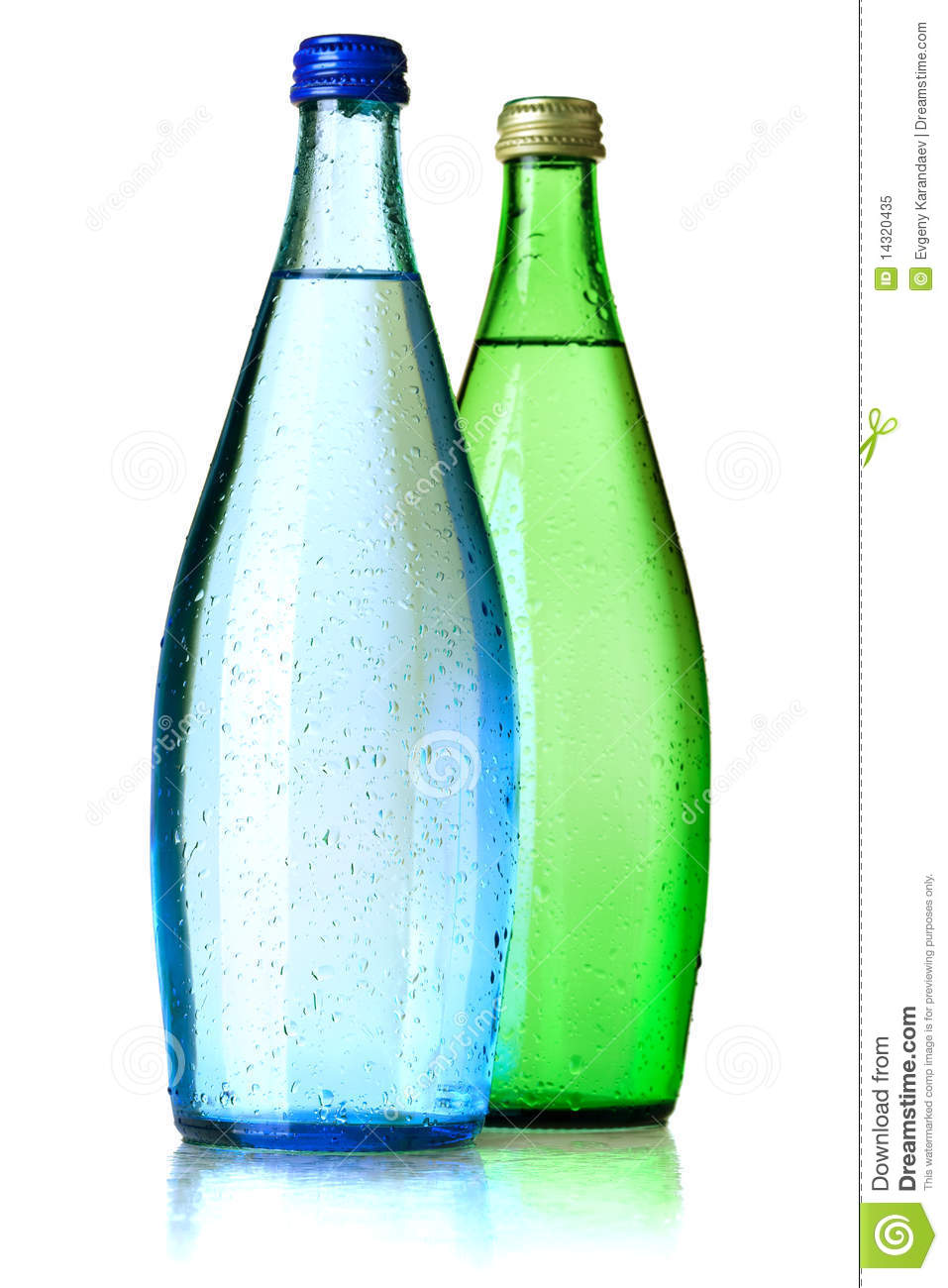 Two Bottles Of Soda Water Royalty Free Stock Photo - Image: 14320435