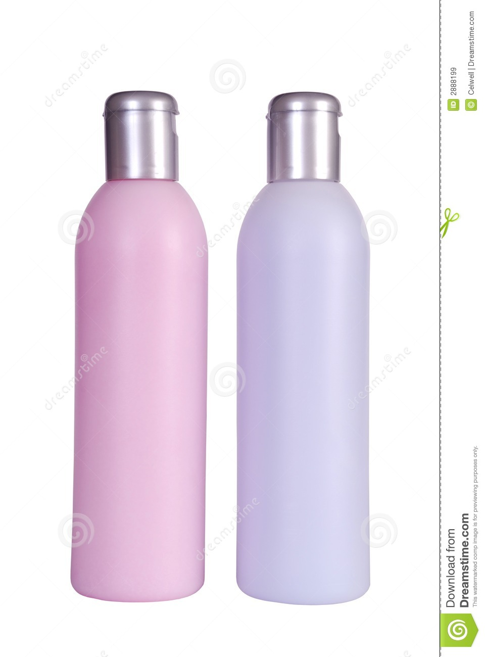 Two bottles of spa products