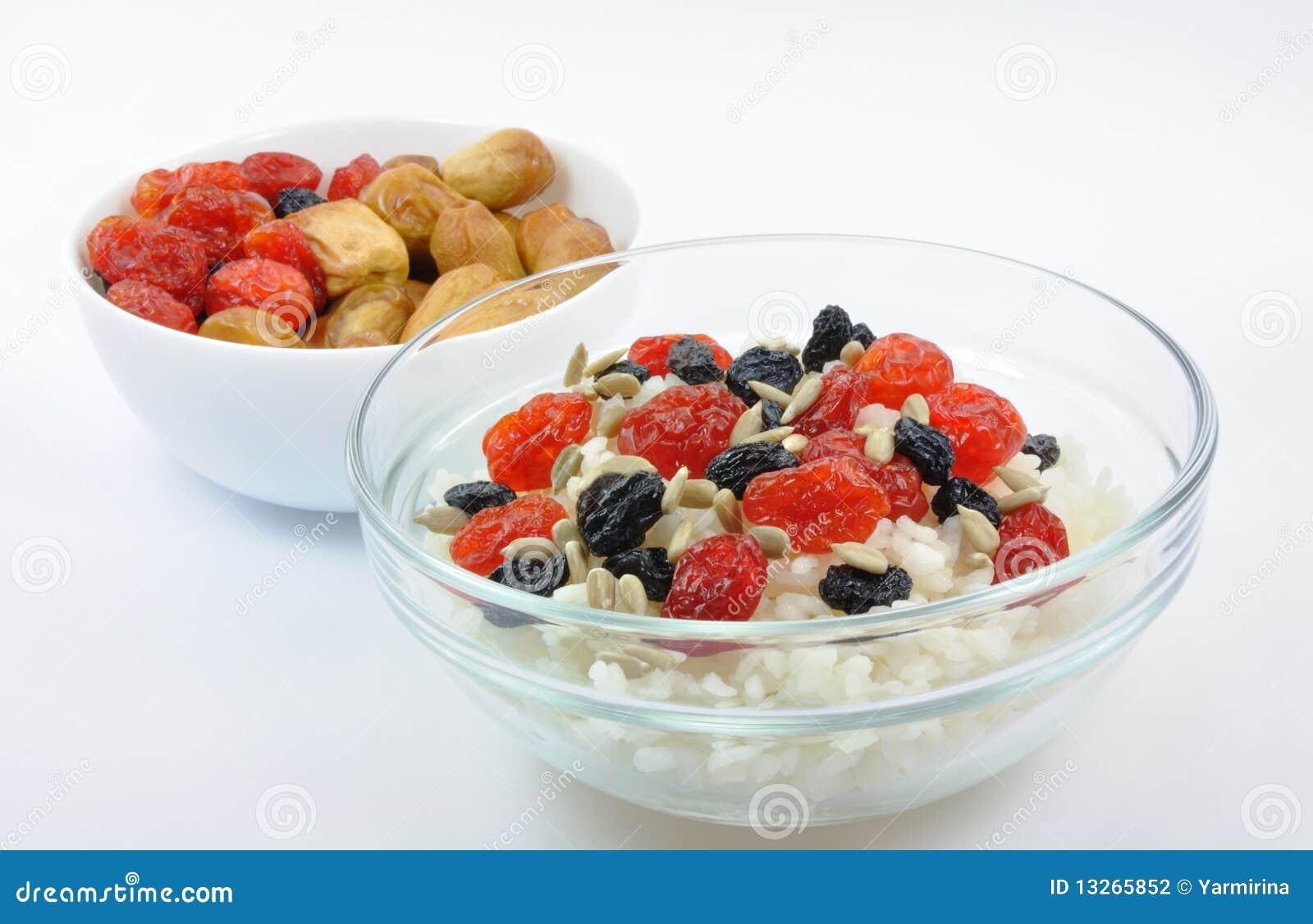 dried fruit fruit bowls