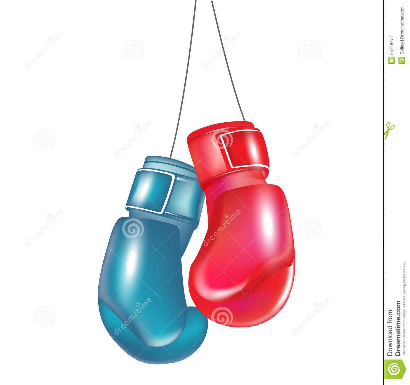 Kickboxing gloves hanging