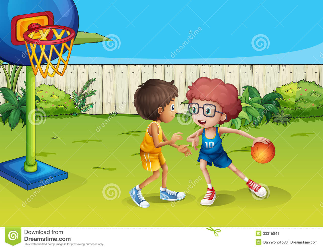 two boys playing basketball inside the fence stock vector basketball players clip art no head basketball players clip art for free