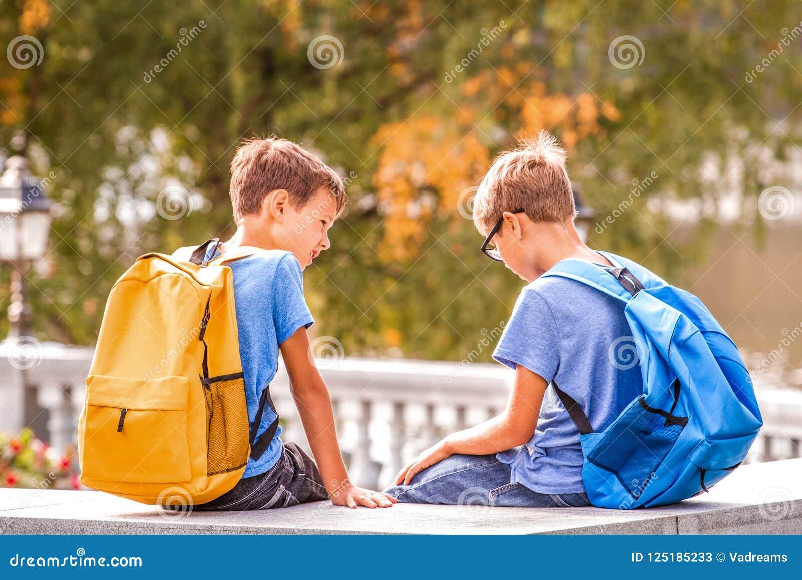Kids Talking At School