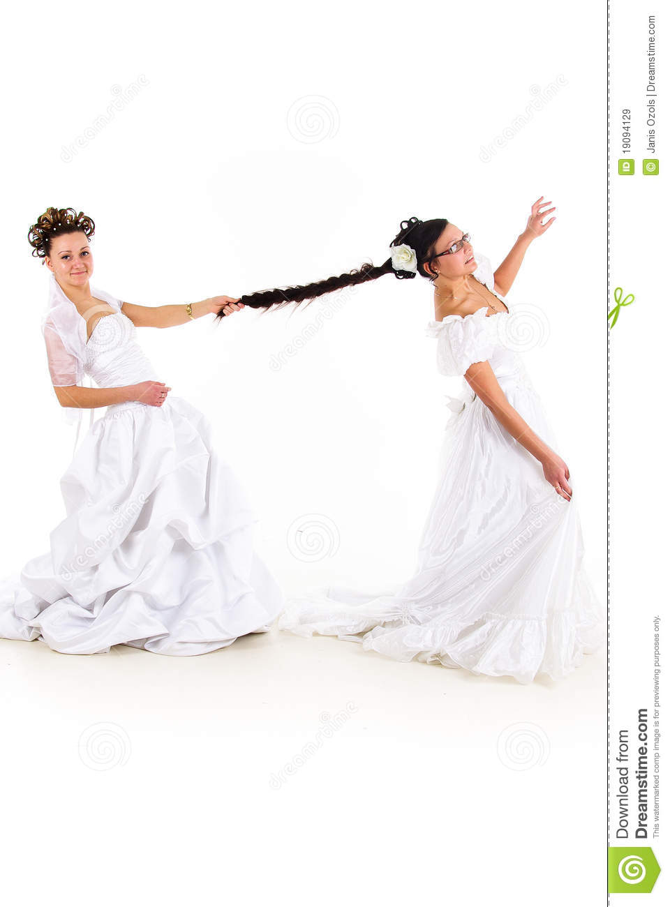 two brides fighting royalty free stock images image