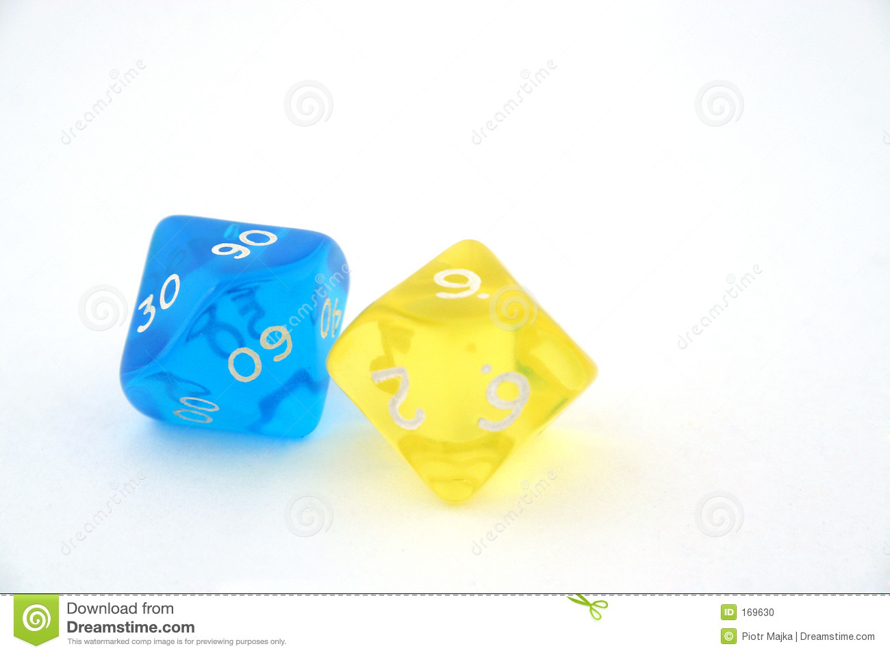 Two bright dices