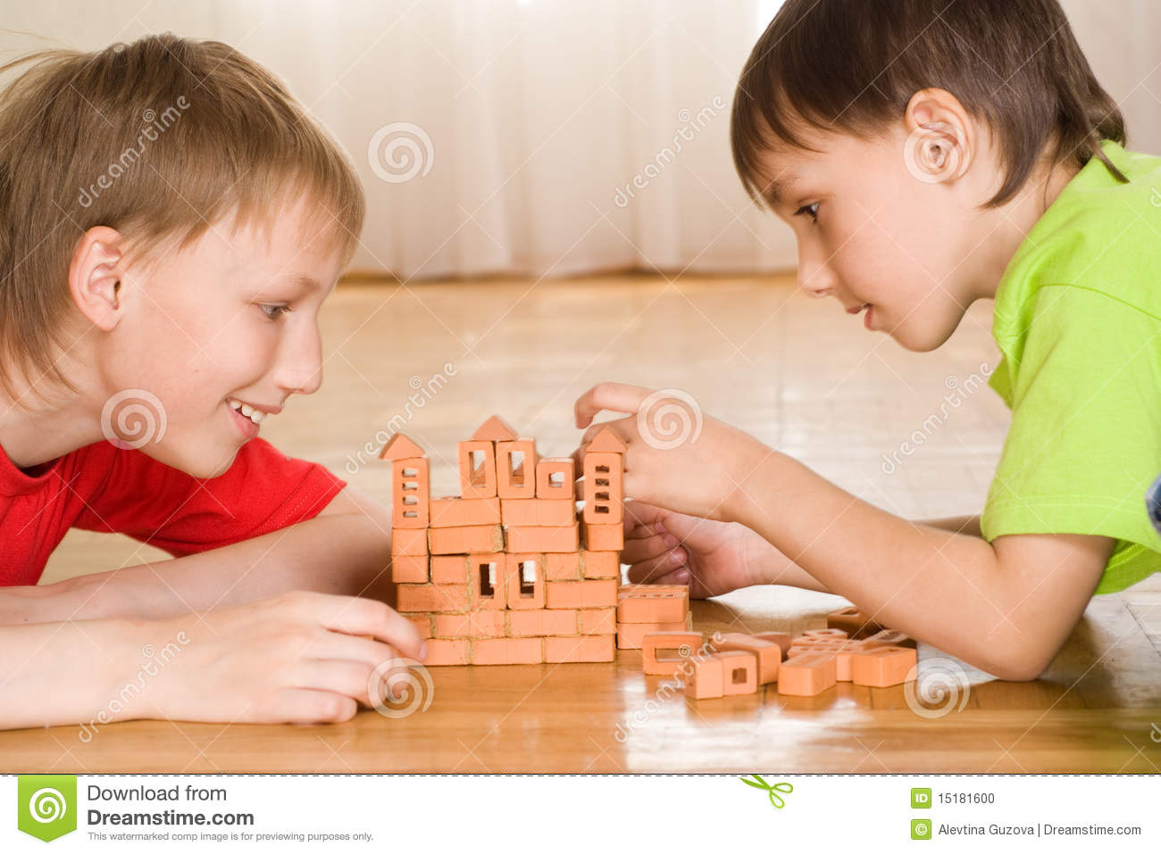 Two Brothers Draw Stock Photo Image Of Paper Holding