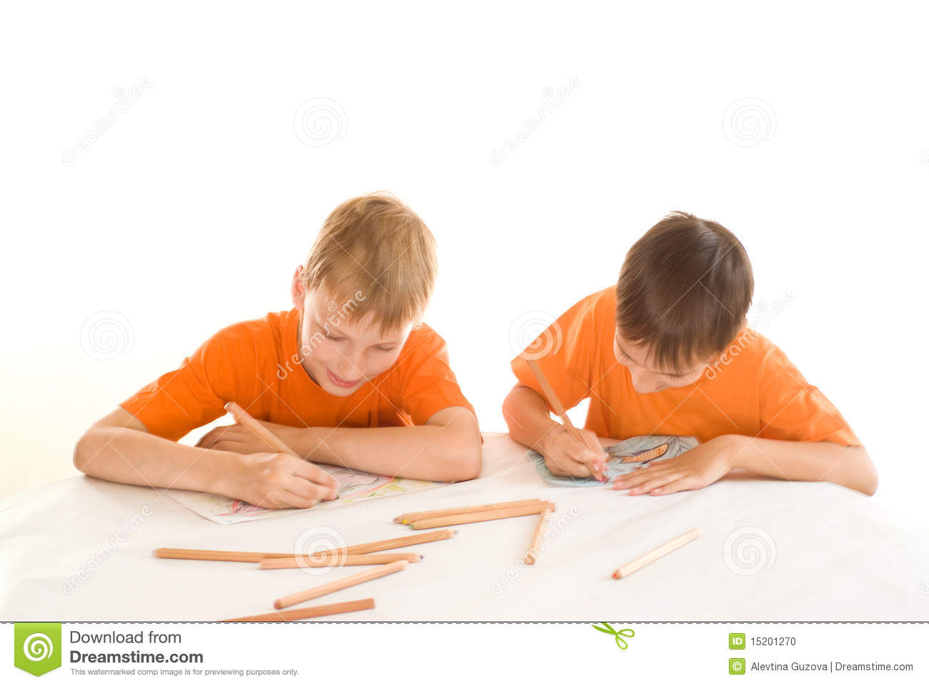 Two brothers paint