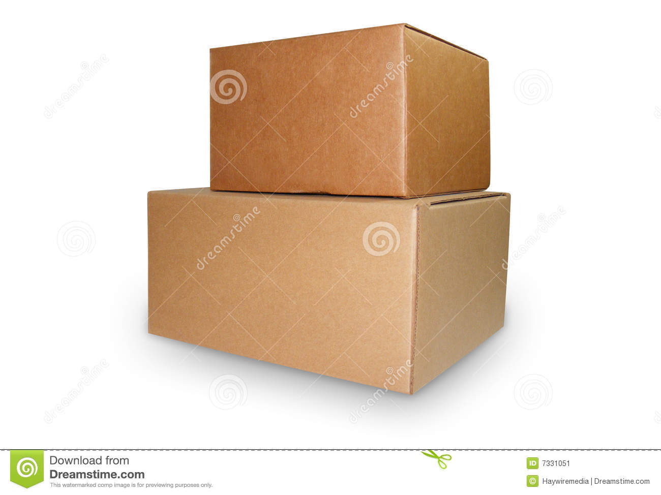 Two Brown Shipping Boxes Stock Image Image 7331051