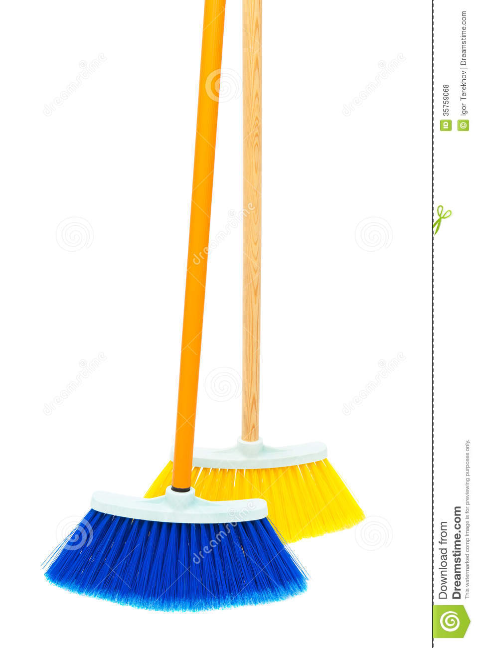 Two Brushes The Floor Royalty Free Stock Photos Image