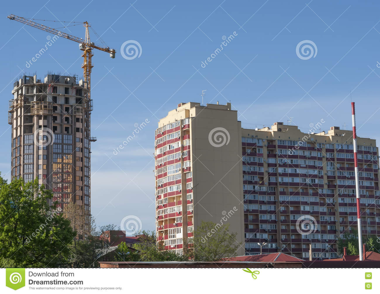 wo Buildings Of Different rchitectural Styles Stock Photo ... - ^