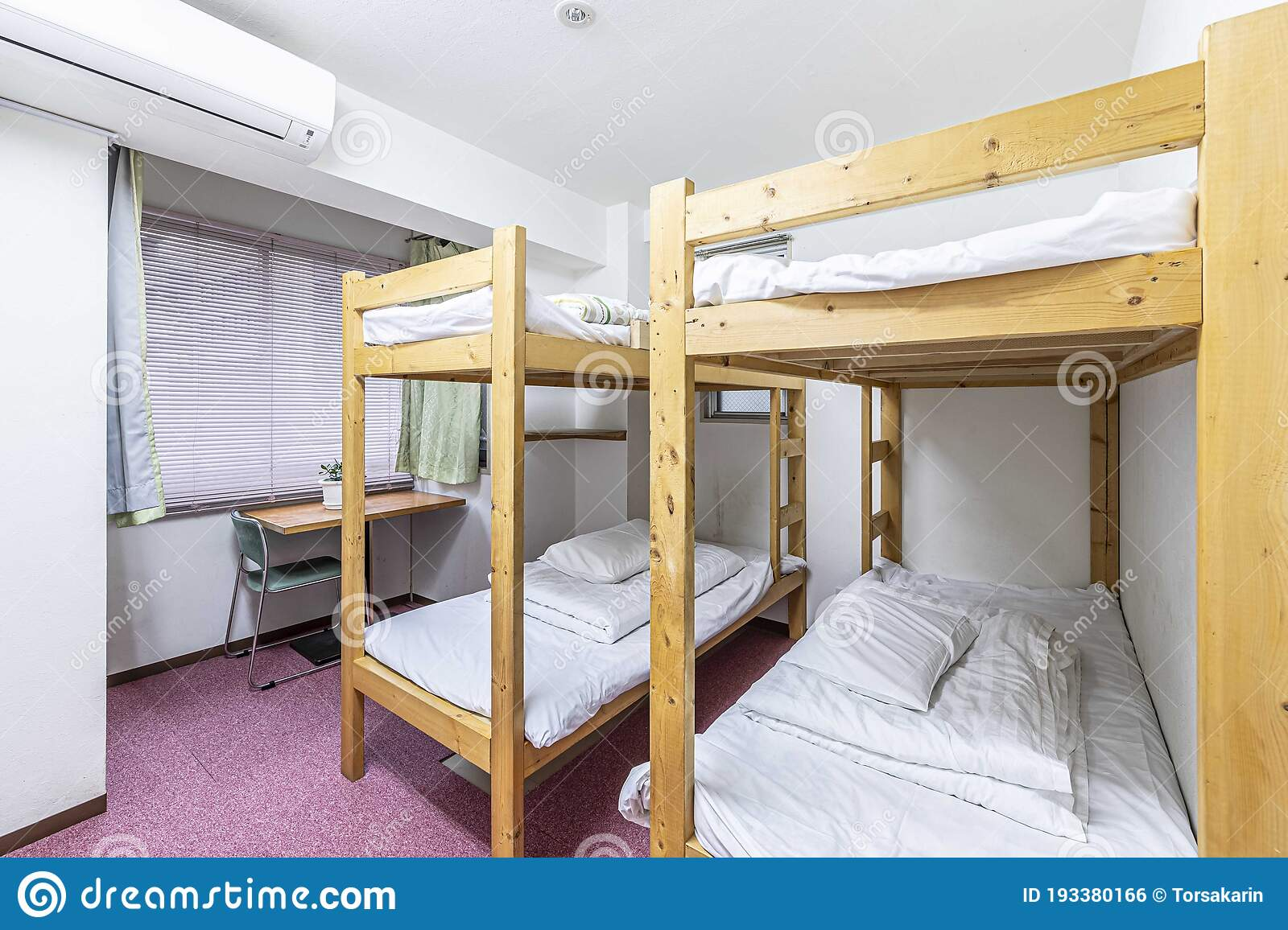 Two Bunk Bed And Mattress In Guest House Stock Photo Image Of Home Clean 193380166
